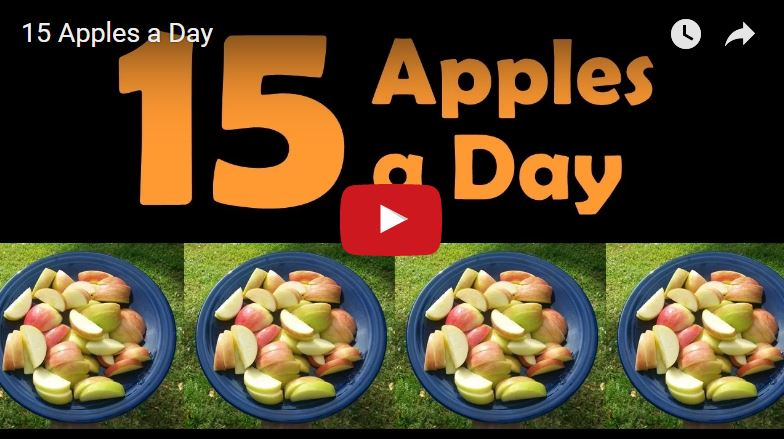 15 Apples a Day - with plate of cut apples