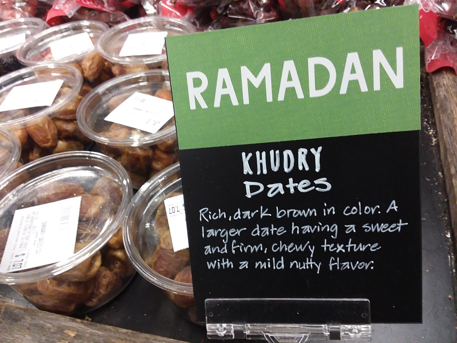 Khudry dates on display with description