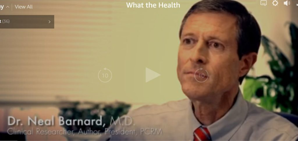 Video still of physician Neil Barnard from the documentary What the Health